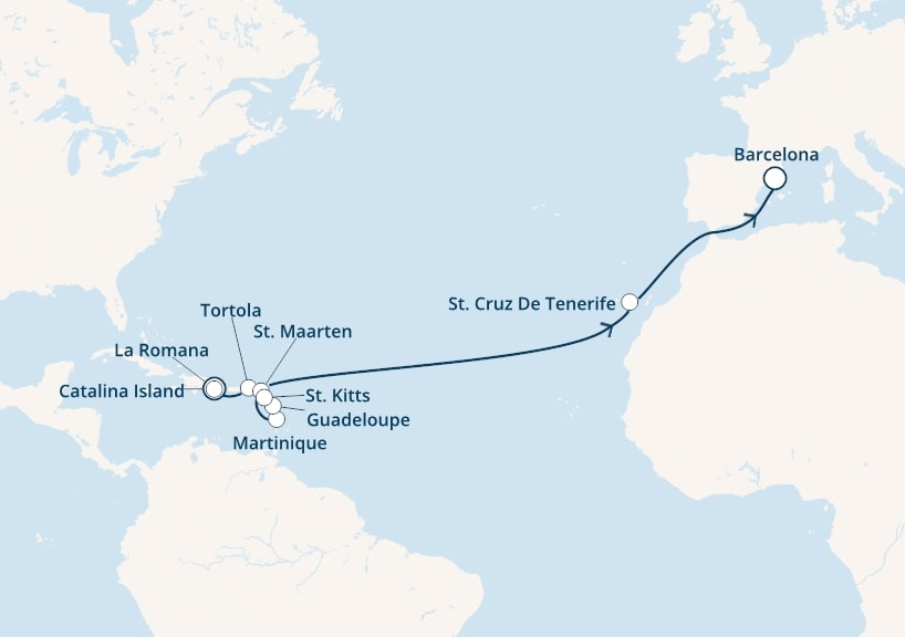 18-days Transatlantic: Europe ↔ Caribbean sea cruise onboard Costa Magica