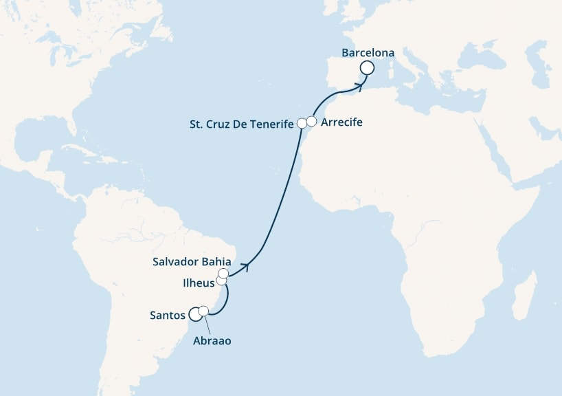 16-days Canary cruise onboard Costa Luminosa