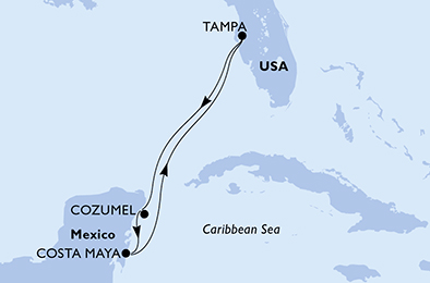 6-days Caribbean sea cruise onboard MSC Armonia